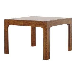Henredon Parsons Burl Wood Side Table For Sale