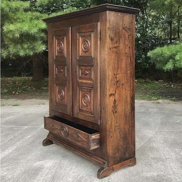 18th Century Rustic Italian Chestnut Armoire For Sale - Image 4 of 9