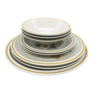 Hearthside Garden Festival's Sunshine Flowers Chop & Dinner Plates & Garden Festival Salad Plates - 9 Pieces