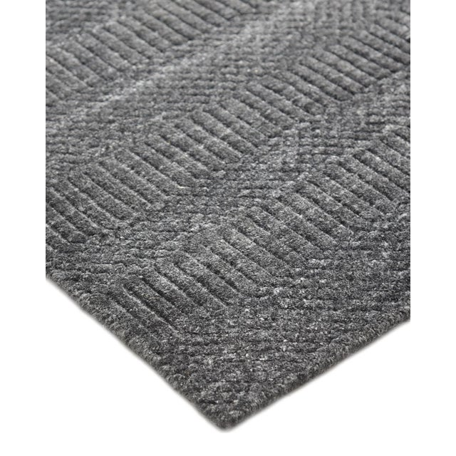 Color: Dark Gray. Made in: India. Subtle tone-on-tone stripes give the Solid collection a depth and sophistication all its...