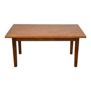 Quarter-Sawn Oak Mission Library Table Desk For Sale