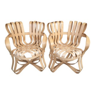 """Cross Check"" Bentwood Armchairs by Frank Gehry for Knoll 1993 - a Pair For Sale"