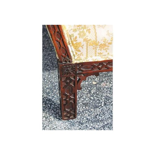 Traditional Carved Asian Chinoiserie Sofa - Image 10 of 11
