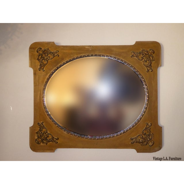 Gorgeous mirror in good vintage condition. Solid and firm. The mirror is intake, but the frame has wear along with...
