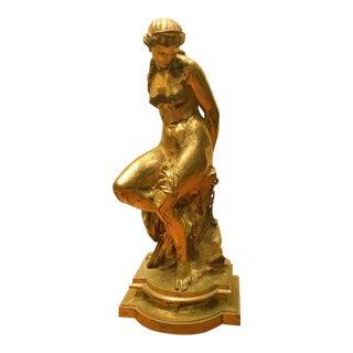 Pierre Alexandre Schoenewerk [1820-1885] Bronze : Woman Bound, Ca.1870. For Sale