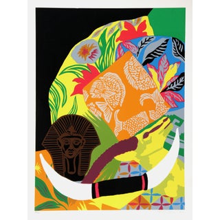 "1980s Hunt Slonem, ""Still Life"", Pop Art Screenprint For Sale"
