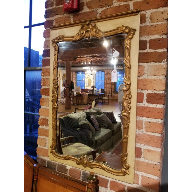 Wood 1930s French Painted and Gilt Gesso Waldorf Astoria Mirror For Sale - Image 7 of 9