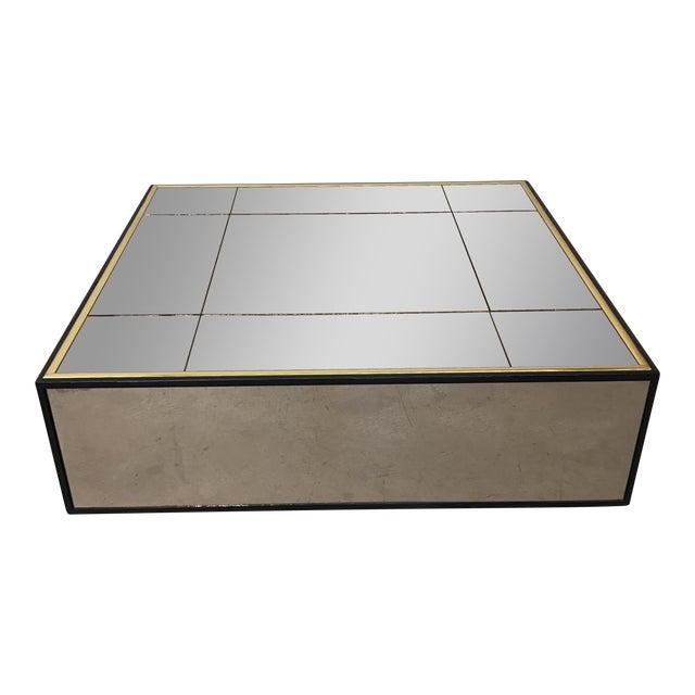 Smoke Bronze Mirror Cube Coffee Table - Image 1 of 11