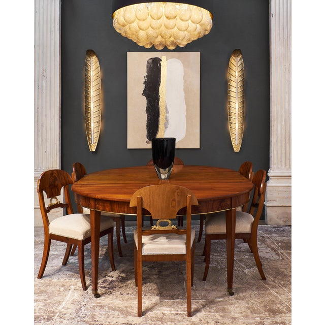 Karl Johan Swedish Antique Set of Flamed Dining Chairs For Sale - Image 4 of 11