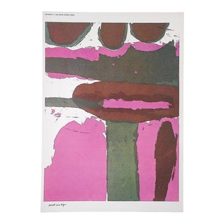 """Vintage Mid 20th C. Abstract Lithograph-Sister Mary Corita Kent-""""Earth as a Sign"""" For Sale"""