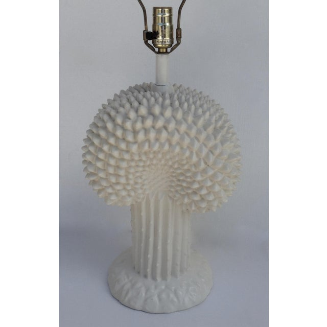 John Dickinson John Dickinson Plaster Palm Cactus Lamp For Sale - Image 4 of 11