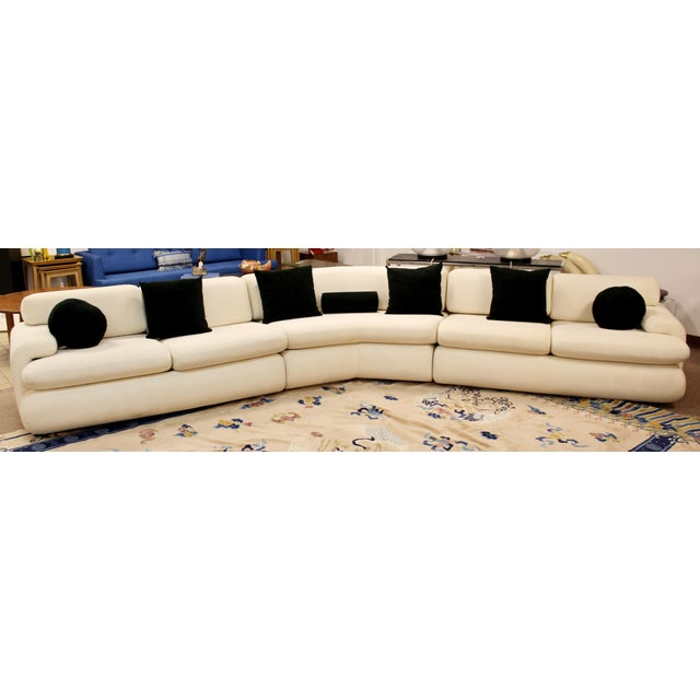 Contemporary Modern Kagan Style Preview 3 Pc Curved Sectional Sofa 1980s For Sale - Image 11 of 11
