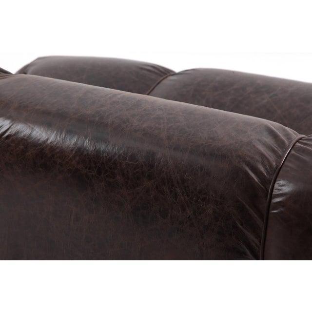 1960s 1960s Vintage De Pas d'Urbino Lomazzi Patinated Leather Sofa For Sale - Image 5 of 6