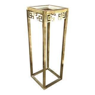 Mastercraft Greek Key Brass Pedestal For Sale