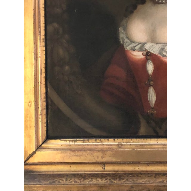 Canvas 17th Century Oil on Canvas Painting For Sale - Image 7 of 13