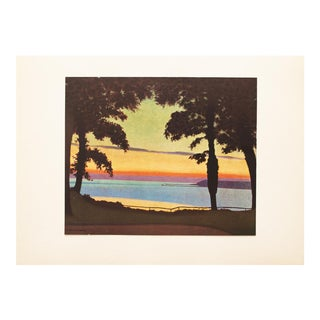 "1947 Félix Vallotton, ""Paysage"" Original Parisian Lithograph For Sale"