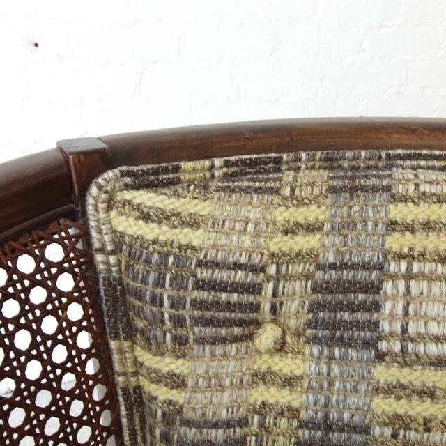 1960s Vintage Boho Barrel Lounge Chair For Sale - Image 5 of 6