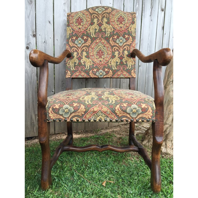 """19th Century French Solid Oak """"Os De Mouton"""" Chairs - A Pair For Sale - Image 6 of 8"""