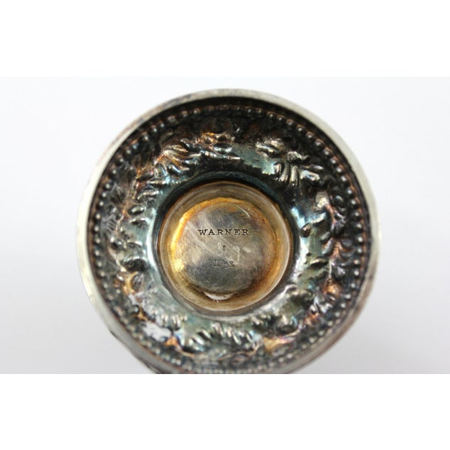 Antique 1840s Repousse Silver Pepper Shaker - Image 4 of 6