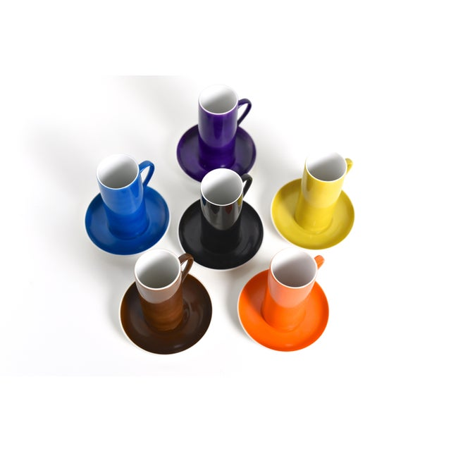 Lagardo Tackett La Gardo Tackett Set of 6 Espresso / Demitasse Cups Set by Schmid, 1960s For Sale - Image 4 of 7