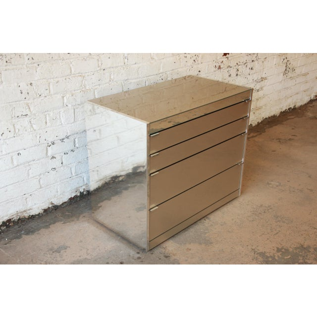 Guy Barker for Ello Mid-Century Mirrored Chest of Drawers - Image 7 of 9