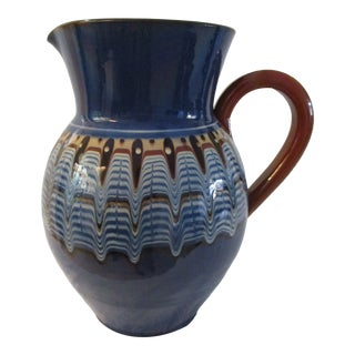 Arts & Crafts Large Pottery Pitcher For Sale