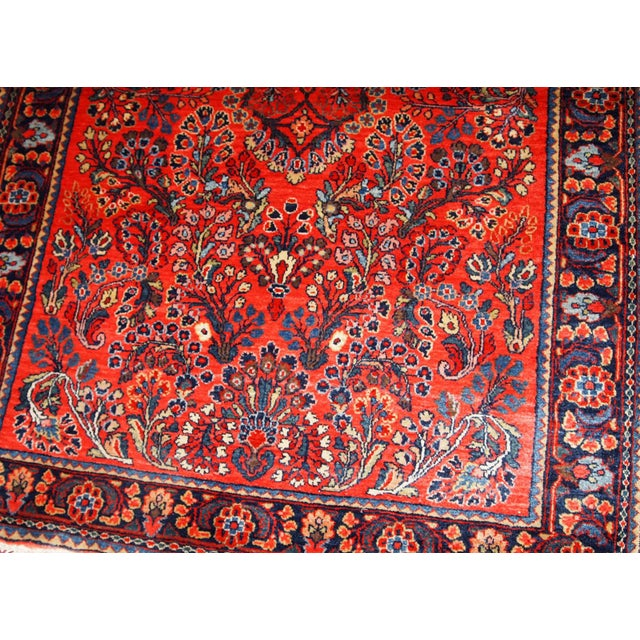 1920s, Handmade Antique Persian Sarouk Rug 3.2' X 5.2' For Sale In New York - Image 6 of 10