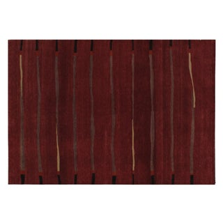 """Stark Studio Rugs Traditional Oriental Wool and Silk Rug - 6'3"""" X 9' For Sale"""
