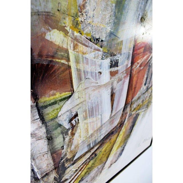 Mid Century Modern Framed Mixed Media Acrylic Abstract Painting by Ljubo Biro For Sale - Image 9 of 11