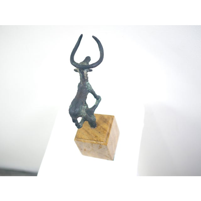 Brutalist Turkish Iron Ankole Watusi Bull Sculpture For Sale - Image 9 of 12