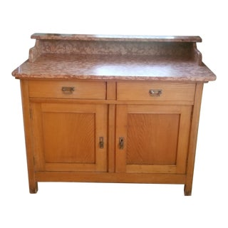 Antique Austrian-Hungarian Marble Top Sideboard
