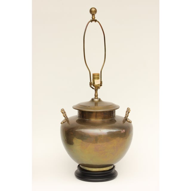 Chapman Brass Asian Table Lamps - A Pair - Image 4 of 7