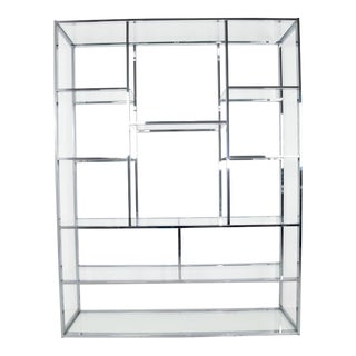 Milo Baughman Chrome Etagere For Sale