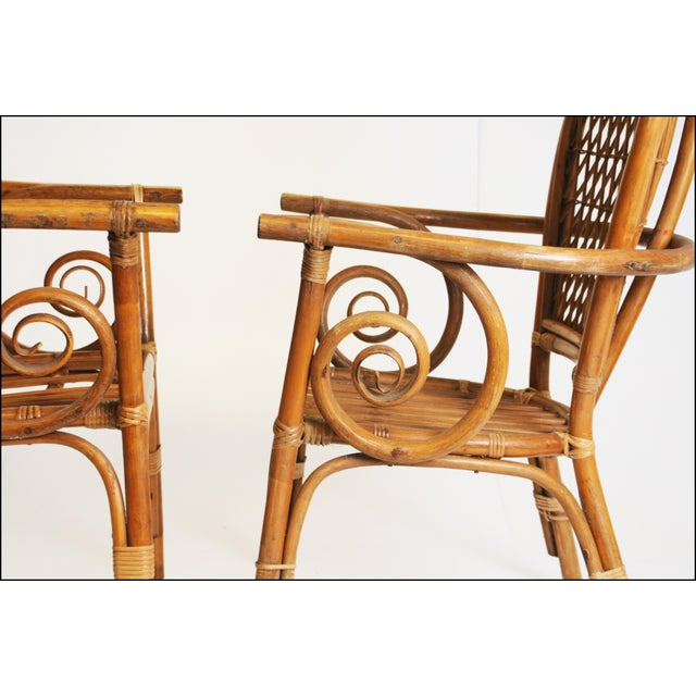 Vintage Bamboo Bentwood Chairs - A Pair For Sale - Image 9 of 11