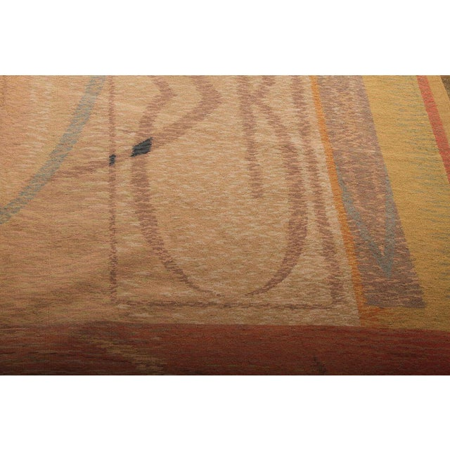 2010s Hand-Knotted Contemporary Flat Weave Rug - 6′ × 8′5″ For Sale - Image 5 of 6