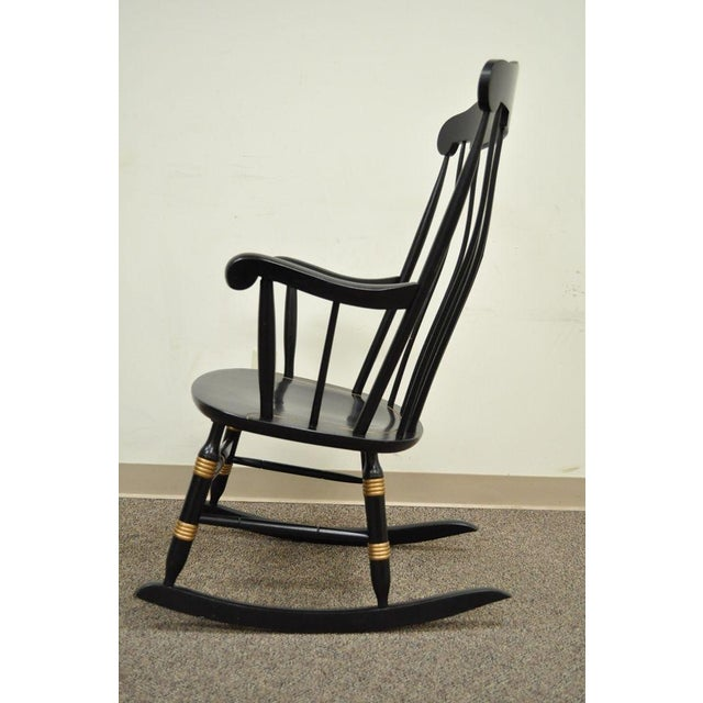Vintage Sigill College University Nichols & Stone Windsor Rocking Chair Rocker For Sale - Image 9 of 11