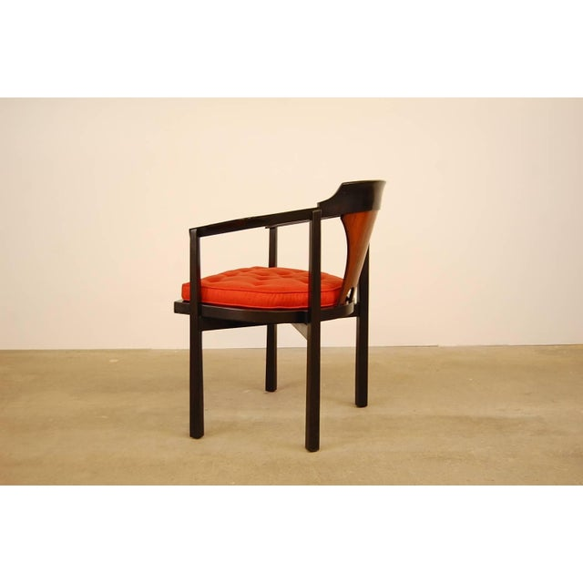 Mahogany Dunbar Horseshoe Chair Designed by Edward Wormley For Sale - Image 7 of 8