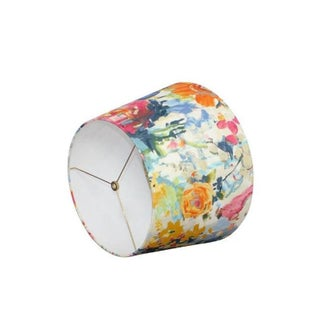 Custom Peony Floral Fabric Drum Lamp Shade Preview