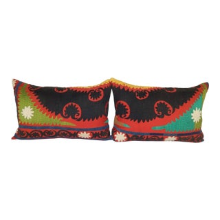 Vintage Suzani Pillow - a Pair For Sale