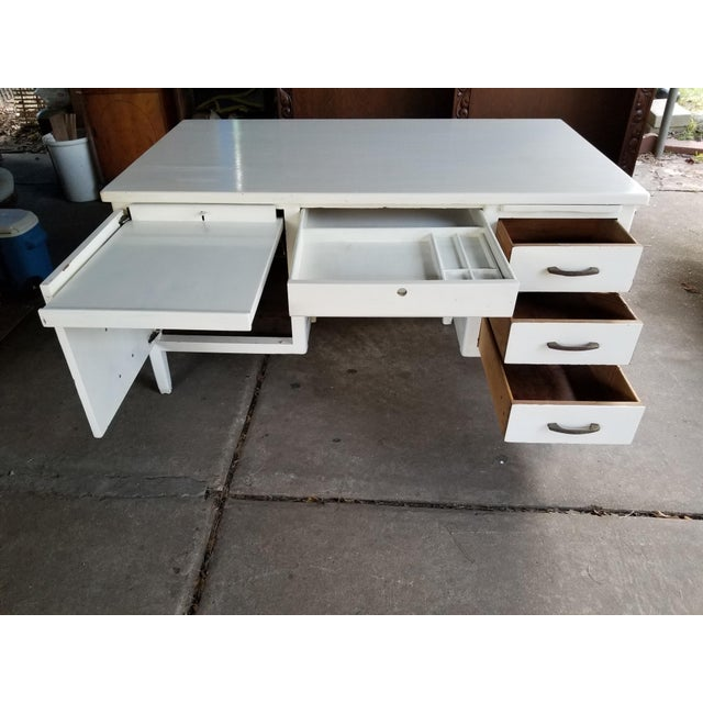 Mid Century Modern Style Executive Desk For Sale - Image 10 of 13