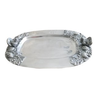 Armitale Silver Holiday Serving Tray For Sale