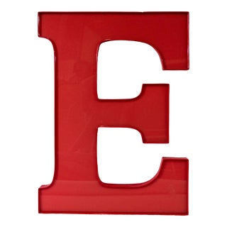 Vintage Capital Red Letter E For Sale