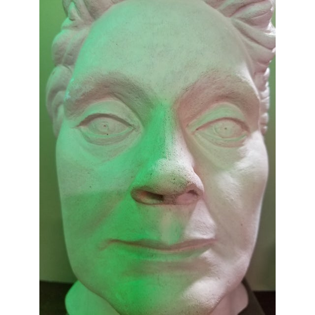 Life-Size Terracotta Bust by Herman Roderick Volz For Sale - Image 9 of 11