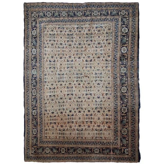 1880s Handmade Antique Persian Tabriz Hajalili Rug 4.2' X 6.5' For Sale