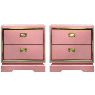 Mid-Century Modern Campaign Nightstands-A Pair For Sale