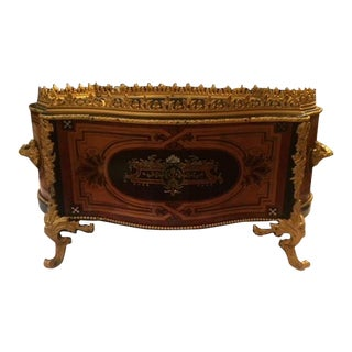 Late 19th C. Bronze Mounted and Inlaid French Planter For Sale