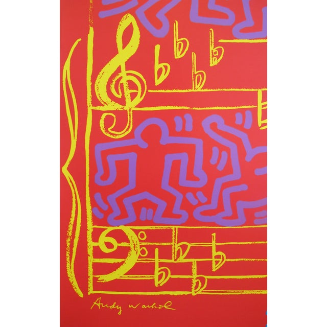 Modern 1986 Montreux Jazz Festival Poster, Keith Haring and Andy Warhol For Sale - Image 3 of 5