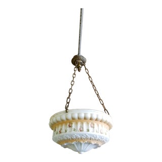 Early 1900s 3-Chain Suspension Chandelier For Sale