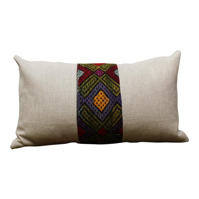 Kilim Band Kidney Pillow For Sale