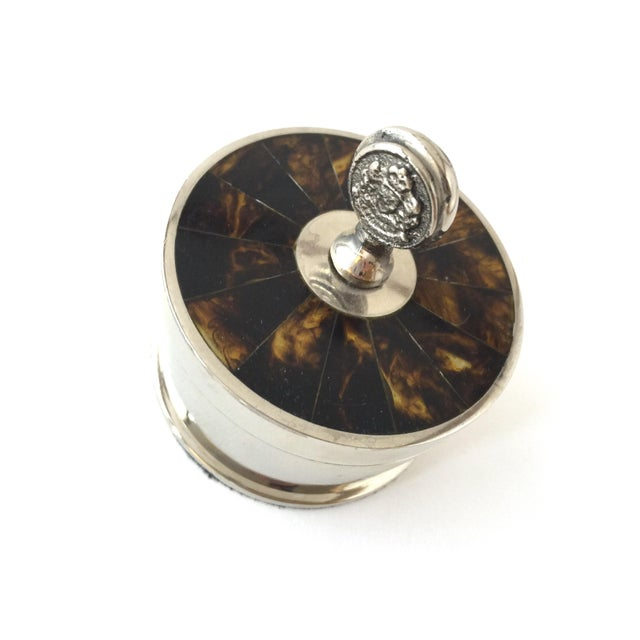 Traditional Ralph Lauren Tortoise Shell Trinket Holder Jewelry Box For Sale - Image 10 of 10